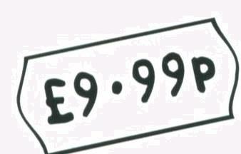 pricing label